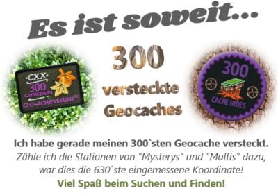 300 Caches verstecken – Check!